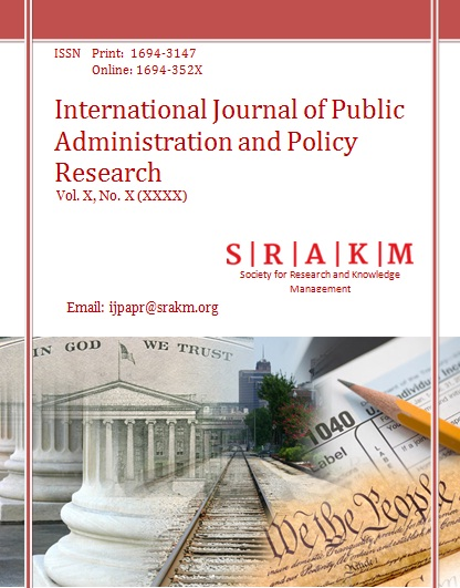 International Journal of Public Administration and Policy
